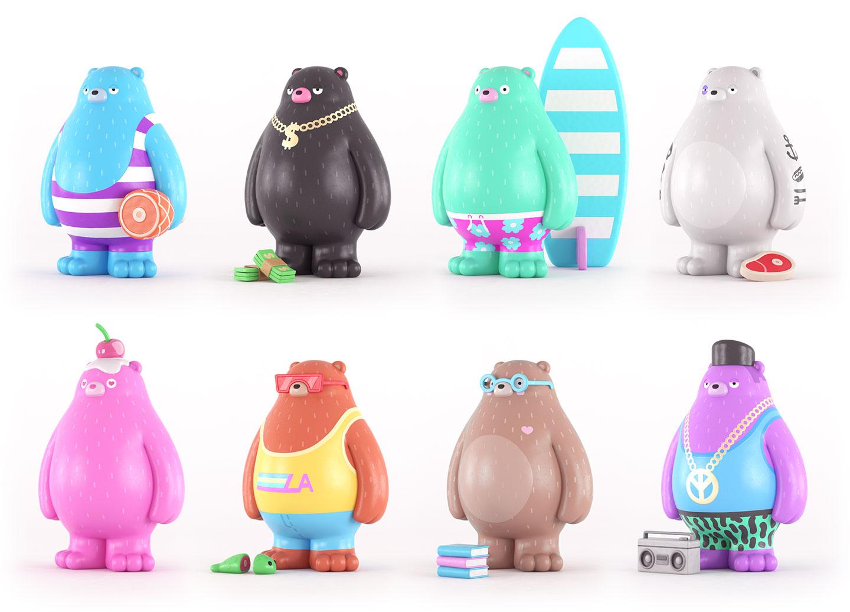 Character Design London : Yum toys california